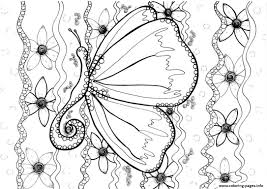 butterfly by zenfeerie coloring pages printable