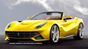 Ferrari F12 Yellow - 2014 ferrari f12berlinetta spyder first photos and news