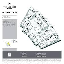 Burj Khalifa Floor Plans The Address Residence Fountain Views Emaar Properties