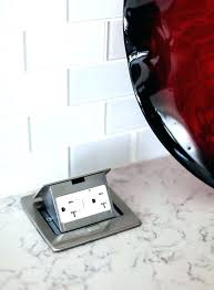kitchen island outlet pop up outlets in granite pop up outlet for kitchen island