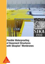 flexible waterproofing of basement structures with sikaplan