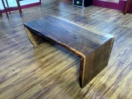 Walnut Slab Table by Natural Edge Curly Walnut Slab Waterfall Coffee Table By Michael