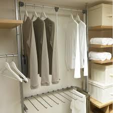Wardrobe Interior Accessories Purchase 850 1150mm Aura Pull Down Hanger Bar Silver From