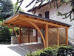 tettoia auto legno tettoia per auto in legno lamellare r02110