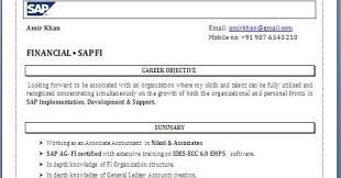 Sap Abap Sample Resume by Sample Resume For Sap Abap 1 Year Of Experience
