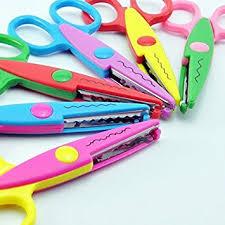 amazon com ucec 6 colorful decorative paper edge scissor set