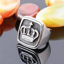 mens crown rings images Men royal king crown ring stainless steel ring vintage men jewelry jpg