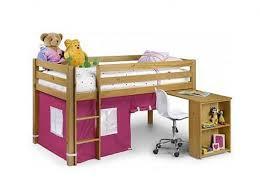 Julian Bowen Bunk Bed Julian Bowen Wendy Pine Mid Sleeper Bed Frame With Pink Tent By