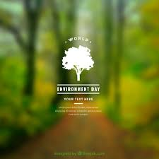 world environment day background with blurred effect vector free