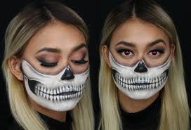 skull mask halloween tutorial youtube