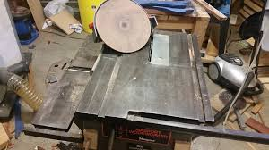 Shopmaster Table Saw Power Tools Can I Really Use My Table Saw As A Disc Sander