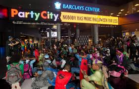 halloween party city brook lopez rondae hollis jefferson and nets throw local kids a