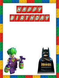 birthday invite template free printable lego invitation templates
