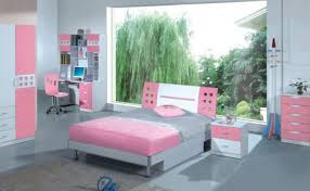 girls bedroom artistic pink red bedroom decoration using white