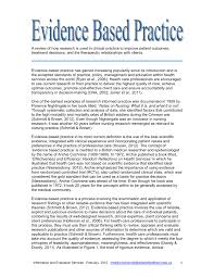 how to write an evidence based practice paper evidence based practice pdf download available