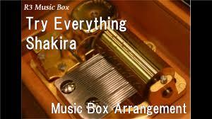 theme song zootopia try everything shakira music box disney animation zootopia