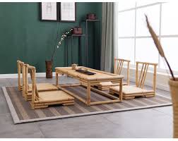 Living Room Furniture Tables 5pcs Set Modern Bamboo Furniture Sets Floor Table Japanese Style