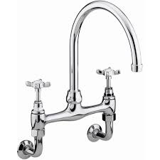 Bristan  Wall Mounted Bridge Kitchen Sink Mixer Chrome Tap - Parts of the kitchen sink