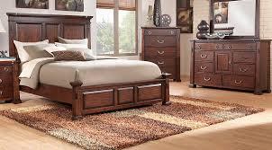 clairfield tobacco 5 pc queen panel bedroom queen bedroom sets
