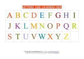 printable a z letter chart in uppercase letters and numbers org