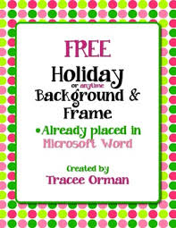 free color polka dots clip frame in word by tracee orman