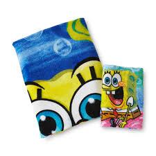 Kmart Bathroom Accessories Spongebob Squarepants Bath Towel U0026 Washcloth Home Bed U0026 Bath