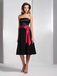 Pink And Black Bridesmaid Dresses Black Bridesmaid Dress With Red Sash Google Search Weddings