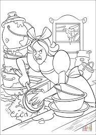 cinderella u0027s sister clean kitchen coloring free