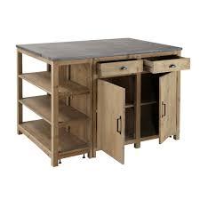 meuble cuisine central îlot central en pin recyclé l145 meuble cuisine ilot central et