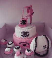 shoe cake topper cakes picture of pink and white chanel cakes with pink chanel shoe