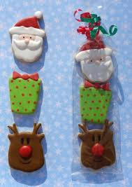 christmas 3 pack mini favor hand decorated sugar cookies santa