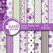 Shabby Chic Purple by Shabby Chic Papers Violet Floral Papers Purple Floral Pattern
