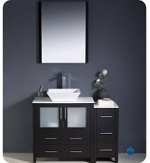 Black Vanity Table With Mirror Fresca Torino 42