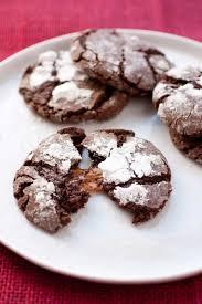 salted caramel stuffed chocolate crinkle cookies cooking