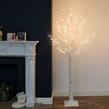 6ft birch twig tree with 96 warm white leds by festive lights