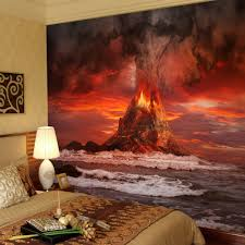 high quality modern desgin volcanic explosion 3d removable wall high quality modern desgin volcanic explosion 3d removable wall mural wallpaper photo self adhesive tv background living room in wallpapers from home