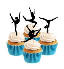 gymnastics cake toppers gymnast silhouette collection cake toppers sprinkles and toppers