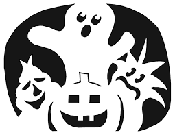 Halloween Bat Cutouts Printable by Cool Pumpkin Stencils Carving 836