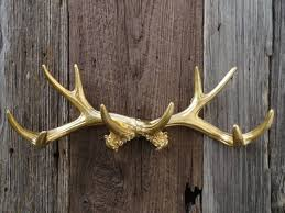 silver deer antlers wall decor home decorating ideas