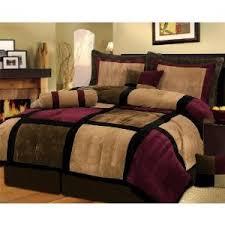 Patchwork Comforter Bed In A Bag 7 Piece Patchwork Comforter Set U2013 Burgundy Or