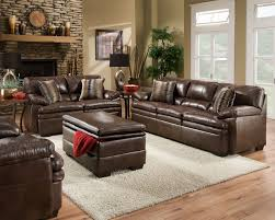 pillow arm leather sofa brown bonded leather sofa set casual living room furniture w accent