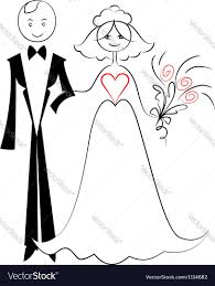 Groom To Bride Wedding Card Wedding Card With Bride And Groom Royalty Free Vector Image