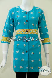 desain baju batik untuk acara resmi desain busana batik perempuan terbaru baju blus batik trendy dengan