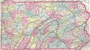 map of counties in pa map of pa counties 1855