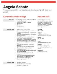 Example Of Resume With No Experience by Resume Templates Teenager How To Write Cv For First Job How To