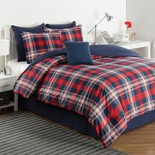 Plaid Bed Set Izod Brisbane Plaid Comforter Set Sam S Club