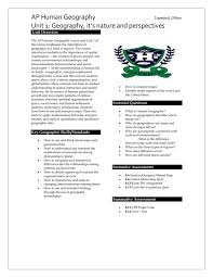 United State Map Quiz by Ap Human Geography Unit 1 Synopsis And Lesson