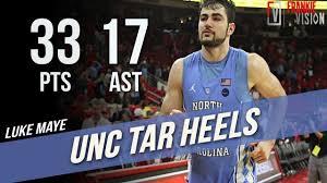 Unc Basketball Meme - luke maye unc vs nc state full highlights 2 10 18 33 pts 17