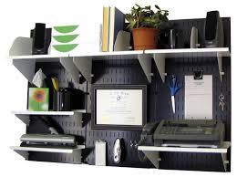 Office Wall Organizer  Steel Pegboard  Black  Wall Control