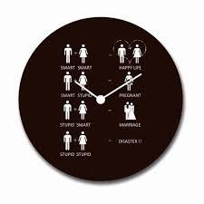Wall Clock Wicked Wedding Mantra Canvas Wall Clock